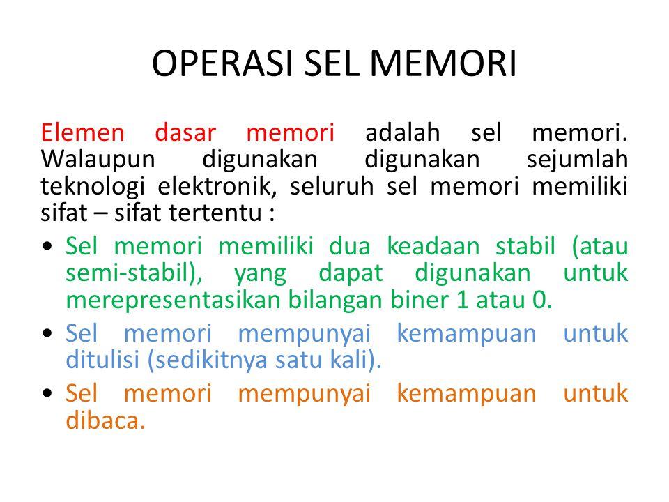 OPERASI SEL MEMORI