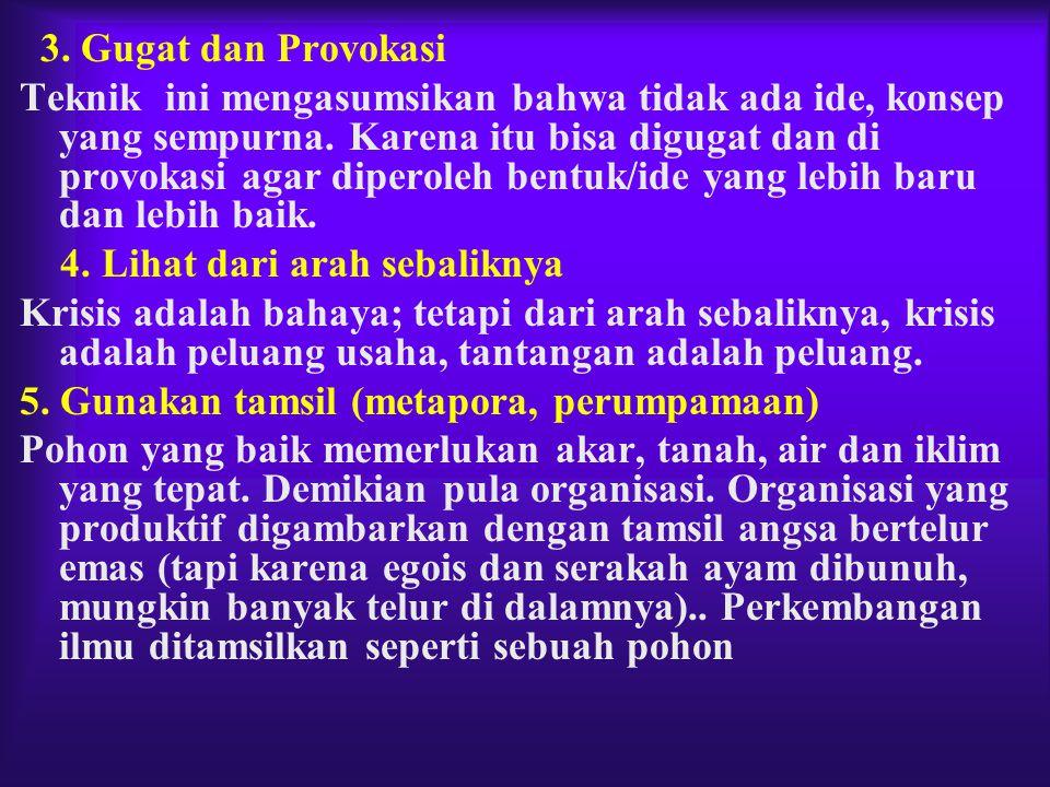 3. Gugat dan Provokasi