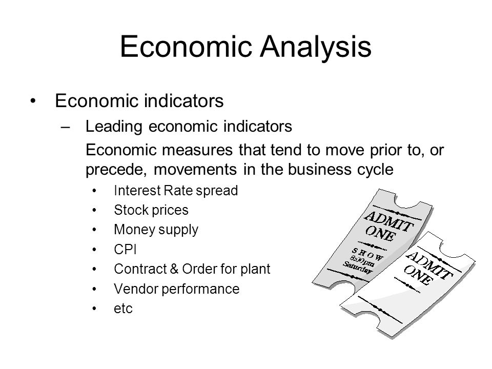 Economic Analysis Economic indicators Leading economic indicators