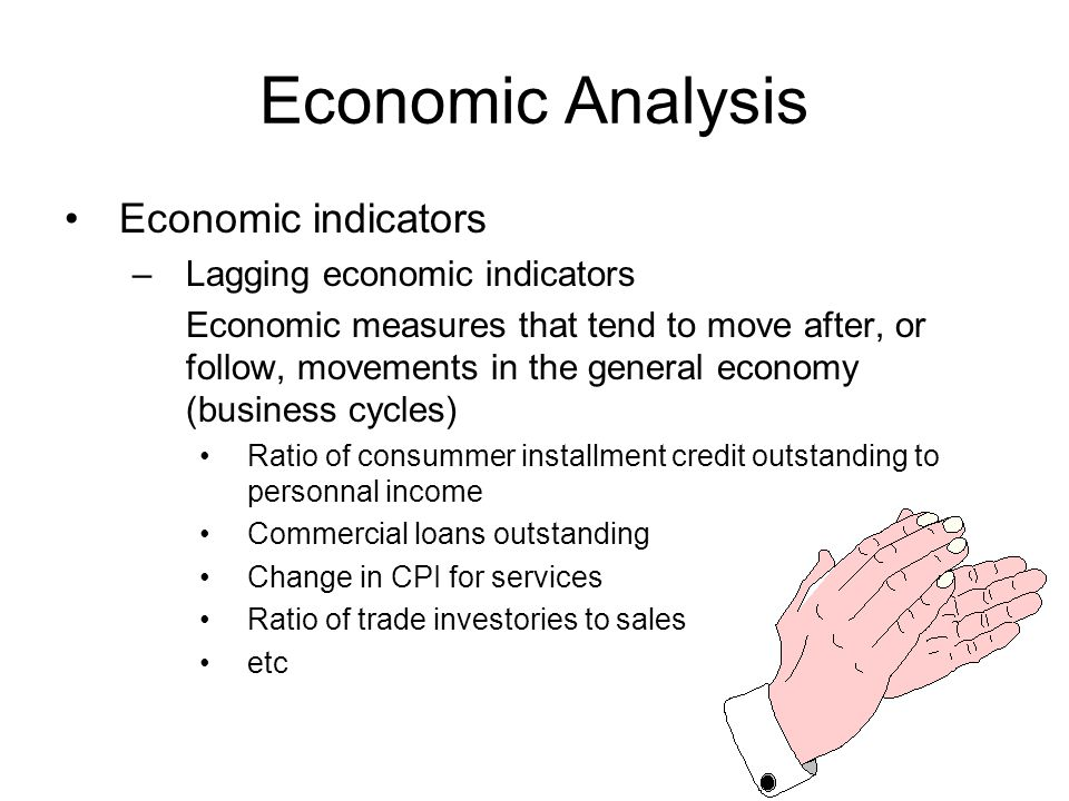 Economic Analysis Economic indicators Lagging economic indicators