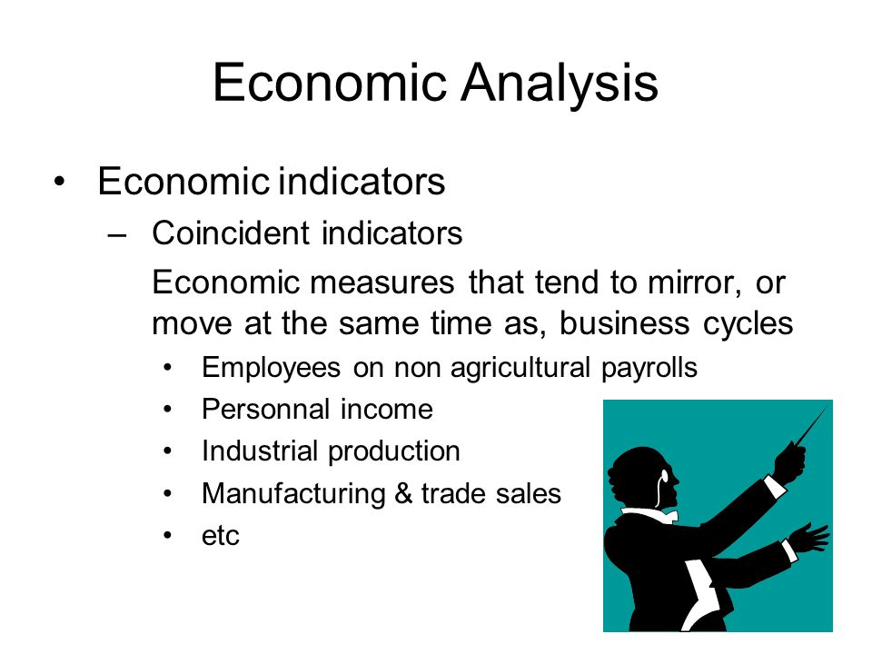 Economic Analysis Economic indicators Coincident indicators
