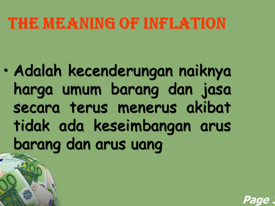 THE MEANING OF INFLATION