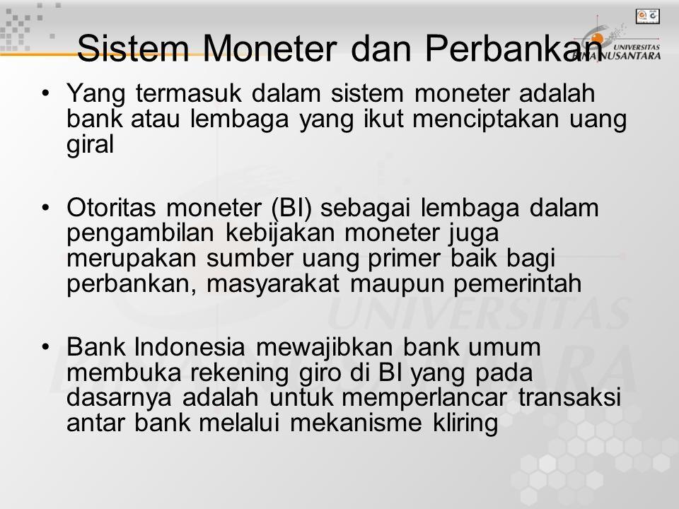 Sistem Moneter dan Perbankan
