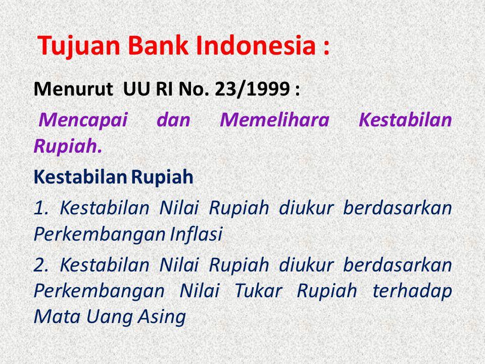 Tujuan Bank Indonesia :