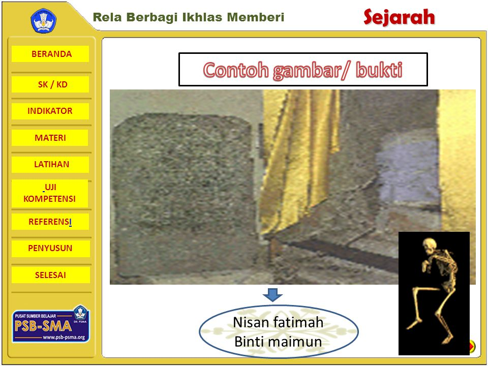 Contoh gambar/ bukti Nisan fatimah Binti maimun