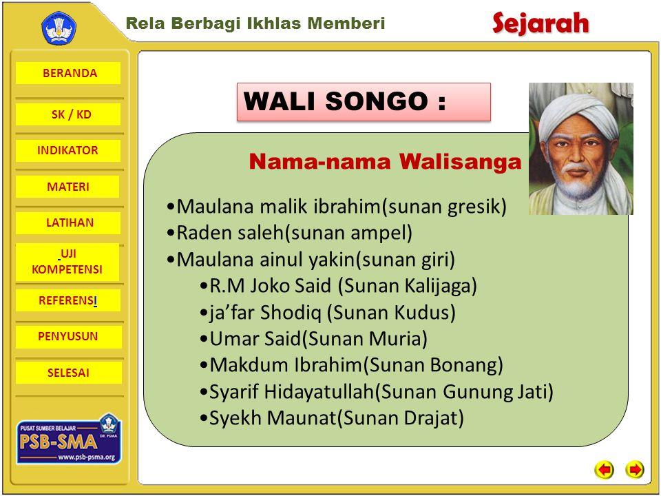 WALI SONGO : Nama-nama Walisanga Maulana malik ibrahim(sunan gresik)