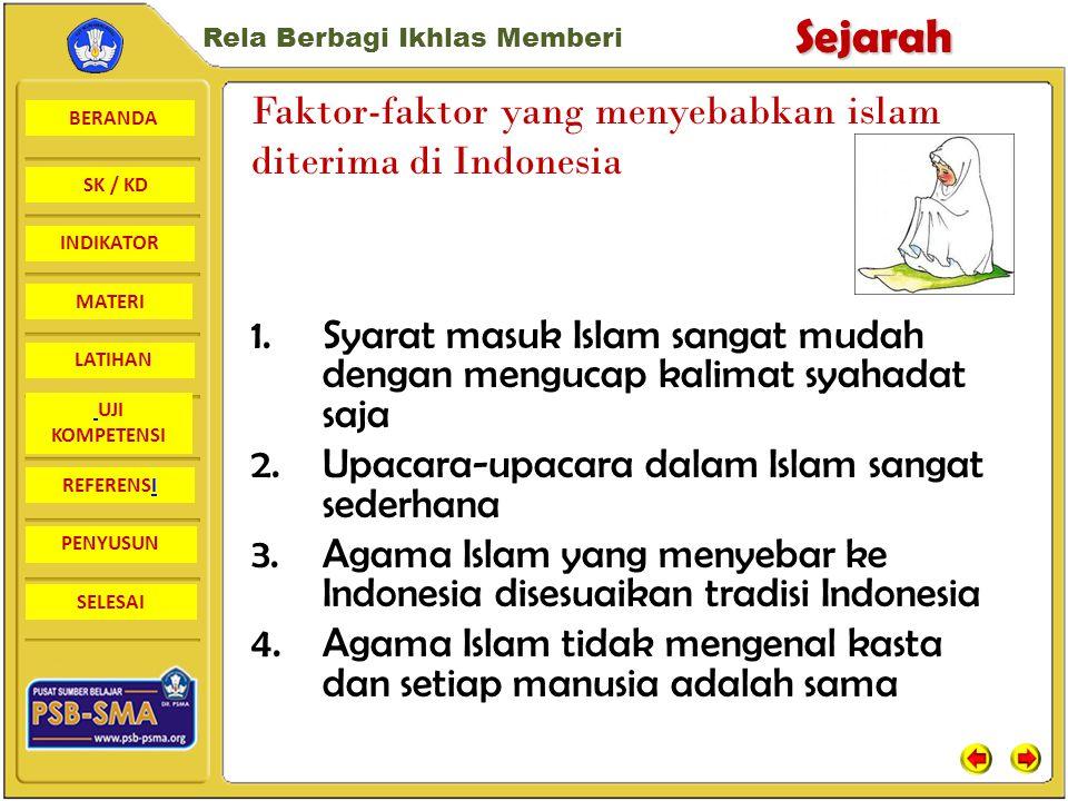 Faktor-faktor yang menyebabkan islam diterima di Indonesia