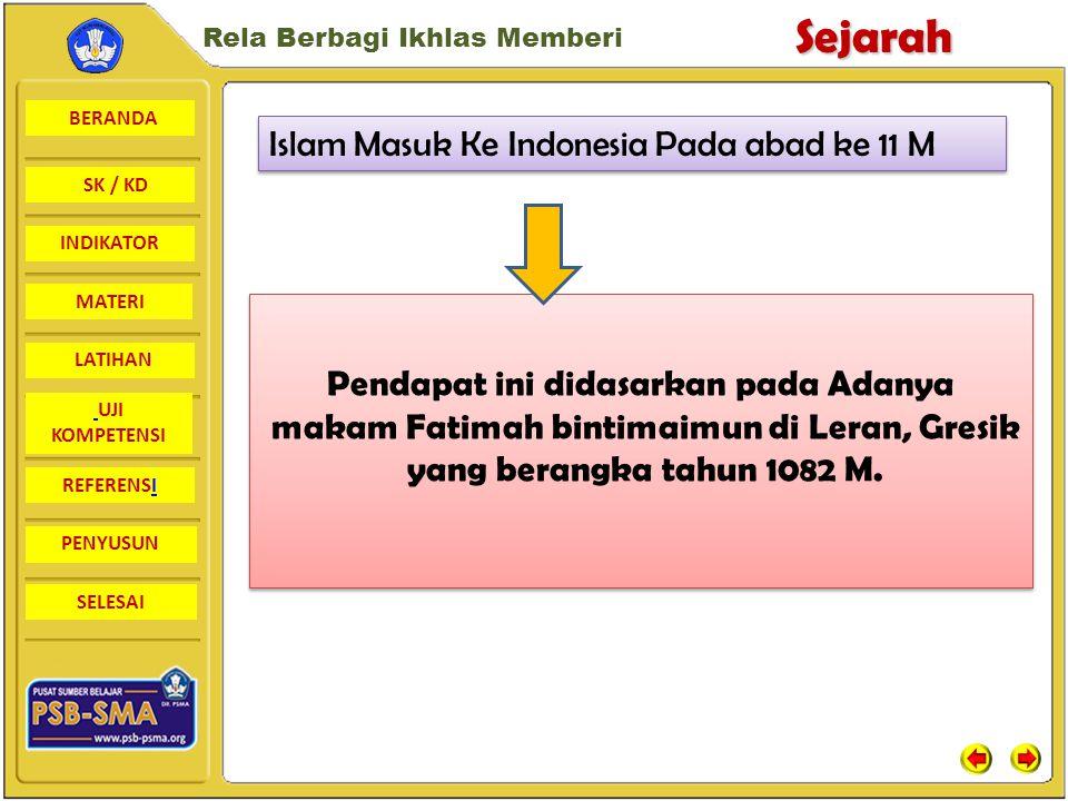 Islam Masuk Ke Indonesia Pada abad ke 11 M