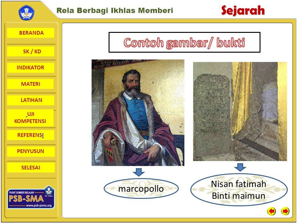 Contoh gambar/ bukti Nisan fatimah Binti maimun marcopollo