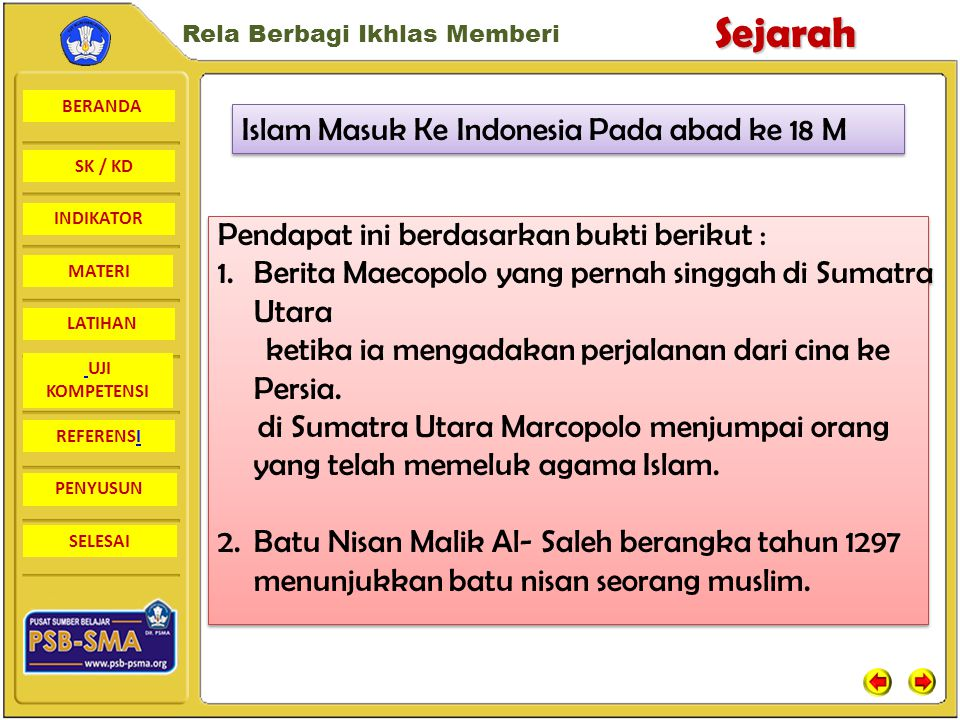 Islam Masuk Ke Indonesia Pada abad ke 18 M