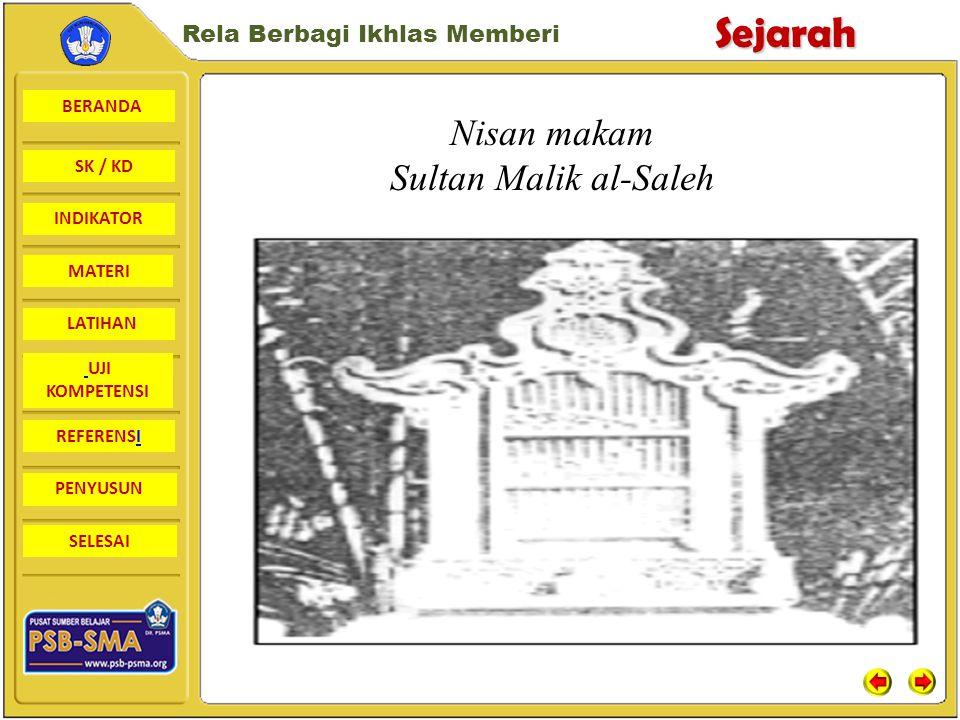 Nisan makam Sultan Malik al-Saleh