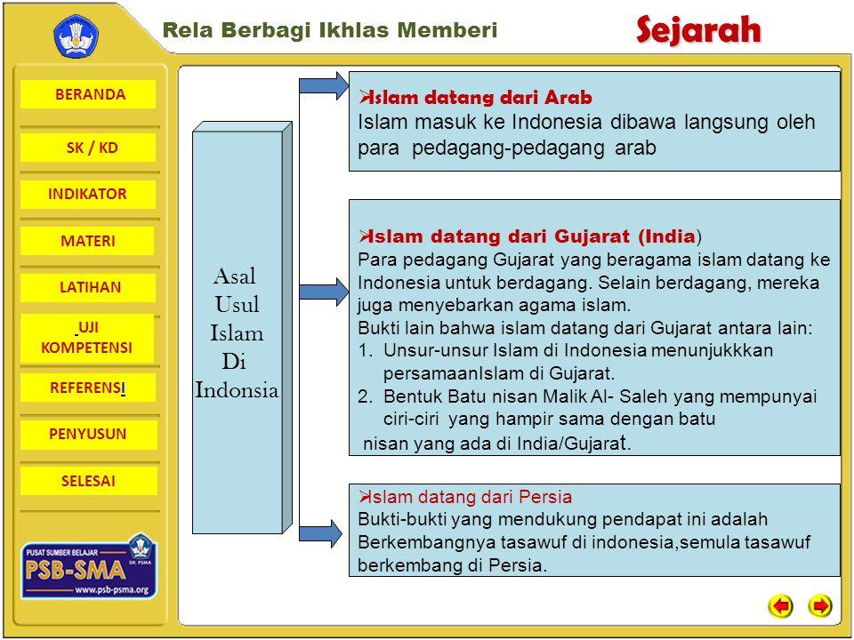 Asal Usul Islam Di Indonsia Islam datang dari Arab