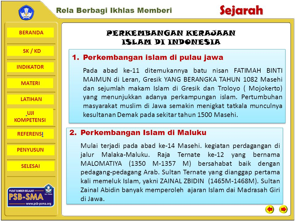 PERKEMBANGAN KERAJAAN ISLAM DI INDONESIA