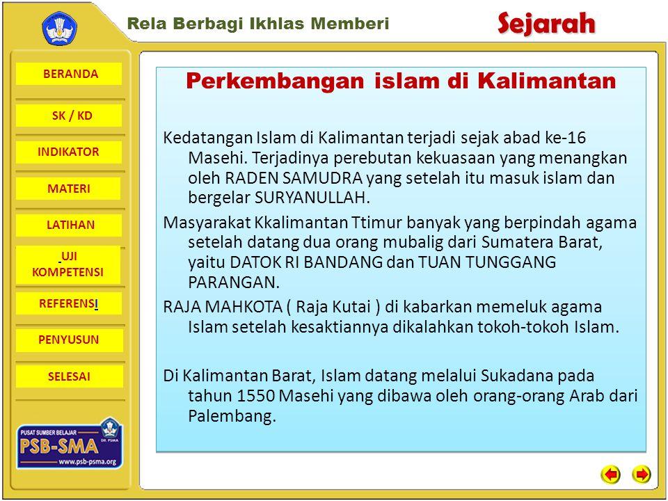 Perkembangan islam di Kalimantan