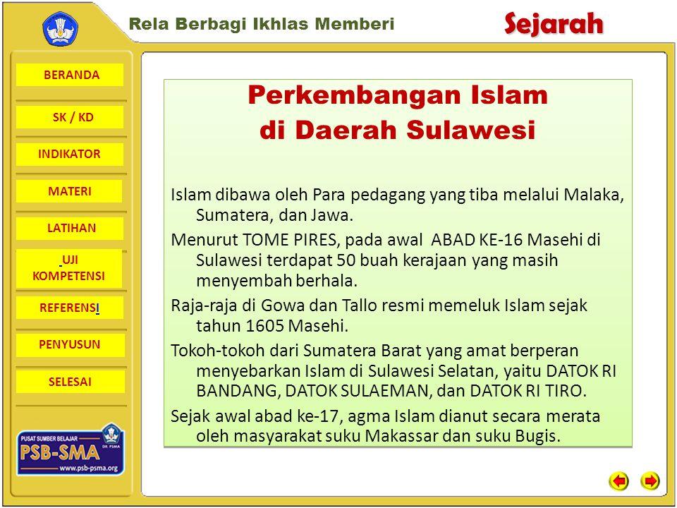 Perkembangan Islam di Daerah Sulawesi