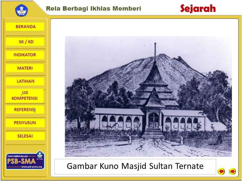 Gambar Kuno Masjid Sultan Ternate