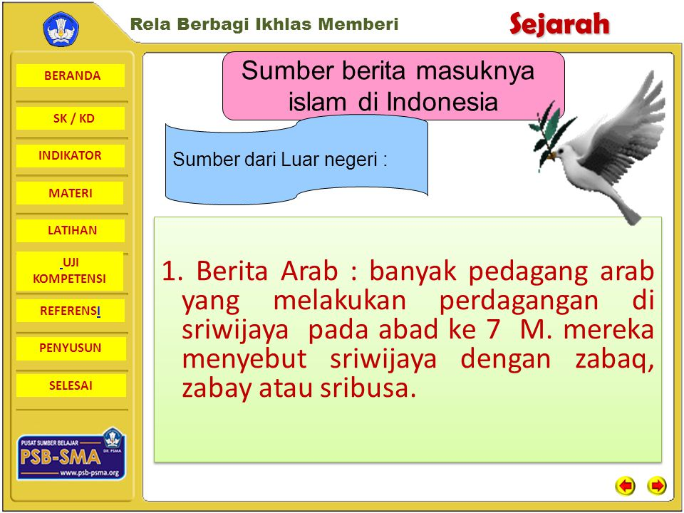 Sumber berita masuknya islam di Indonesia