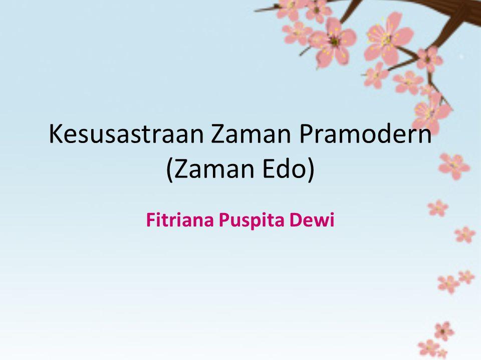Kesusastraan Zaman Pramodern (Zaman Edo)