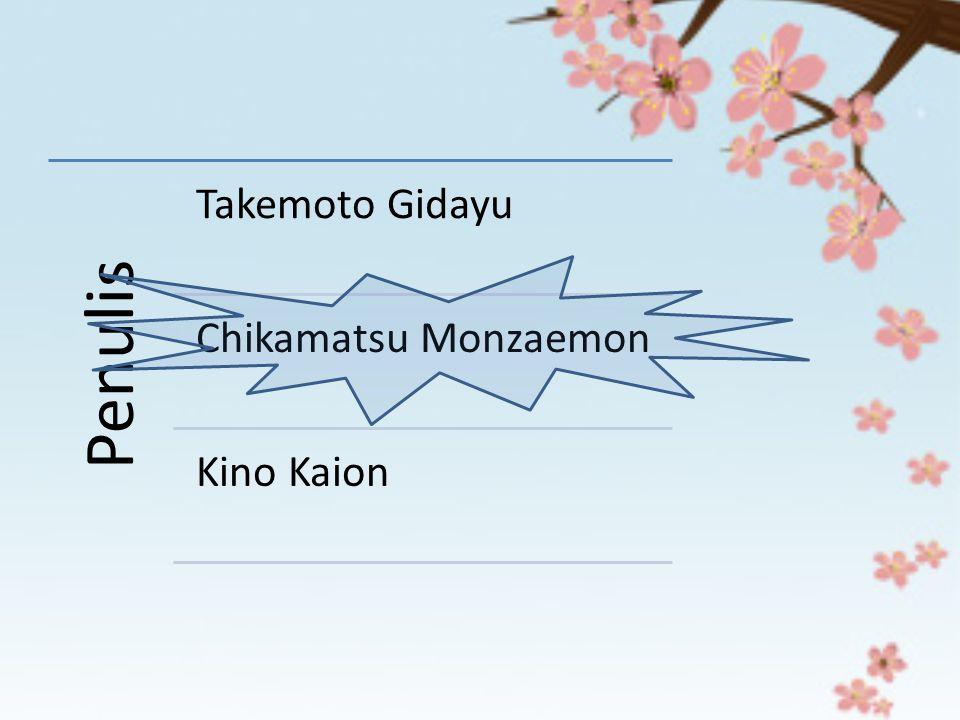 Penulis Takemoto Gidayu Chikamatsu Monzaemon Kino Kaion