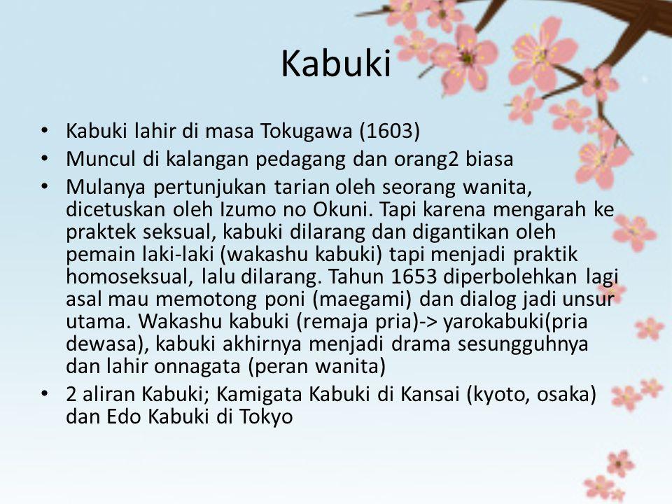 Kabuki Kabuki lahir di masa Tokugawa (1603)
