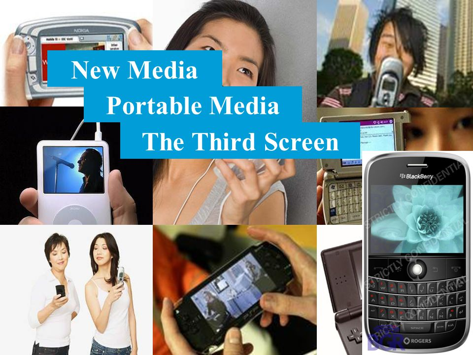 New Media Portable Media The Third Screen