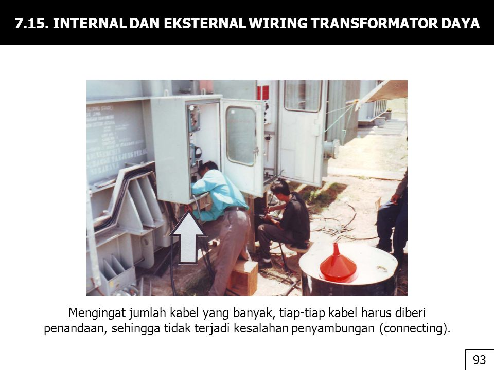 7.15. INTERNAL DAN EKSTERNAL WIRING TRANSFORMATOR DAYA
