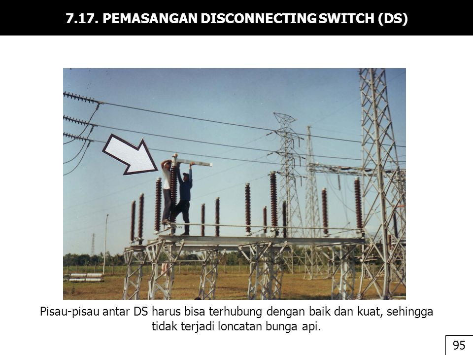 7.17. PEMASANGAN DISCONNECTING SWITCH (DS)