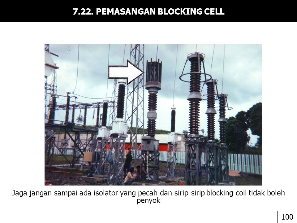 7.22. PEMASANGAN BLOCKING CELL