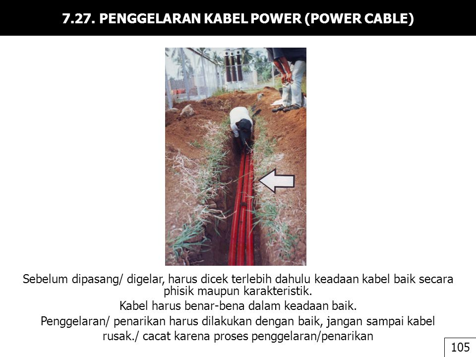 7.27. PENGGELARAN KABEL POWER (POWER CABLE)
