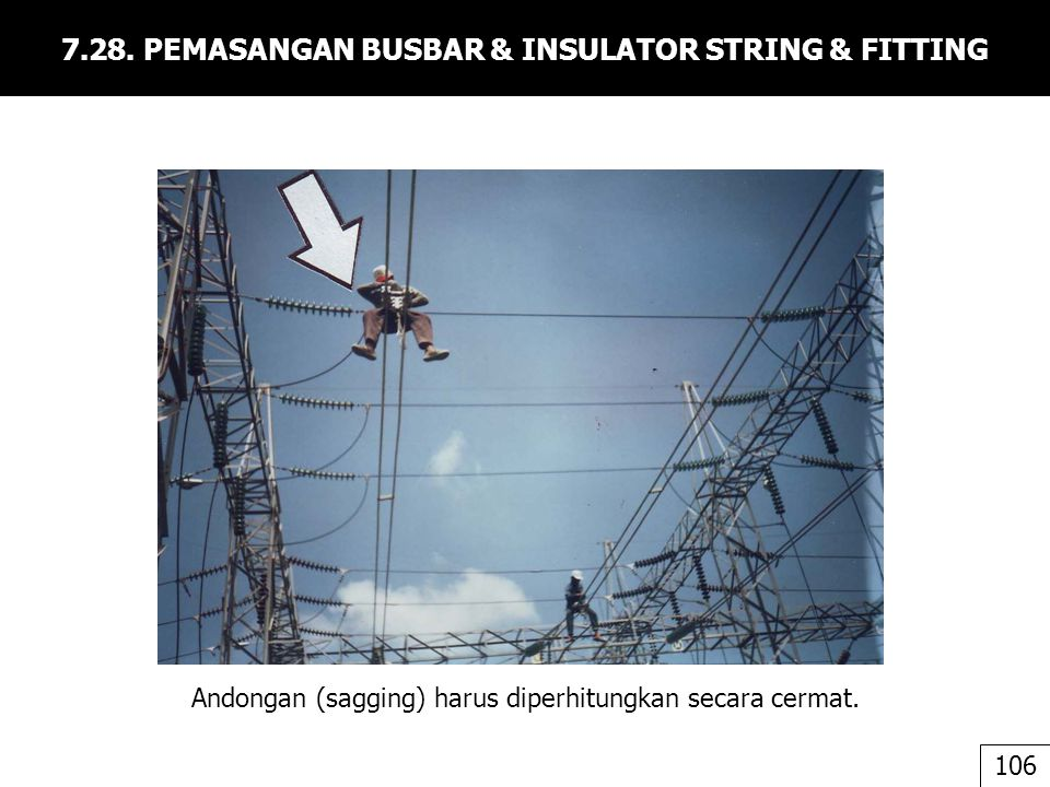 7.28. PEMASANGAN BUSBAR & INSULATOR STRING & FITTING