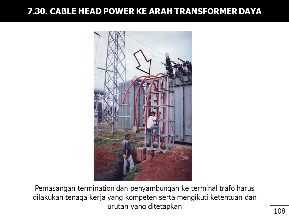7.30. CABLE HEAD POWER KE ARAH TRANSFORMER DAYA