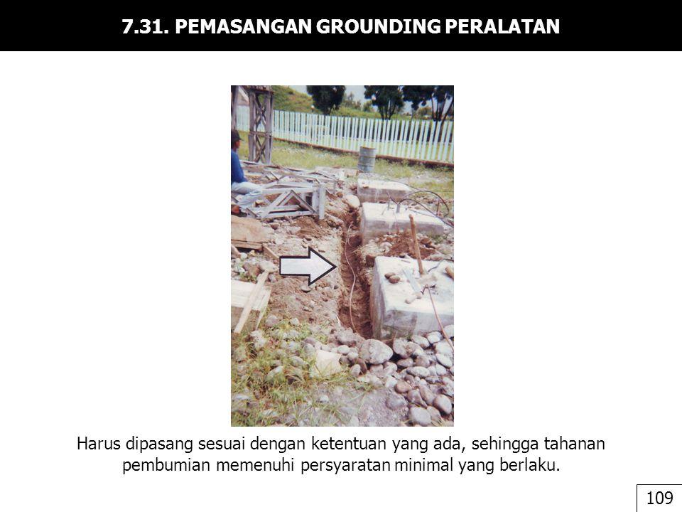 7.31. PEMASANGAN GROUNDING PERALATAN
