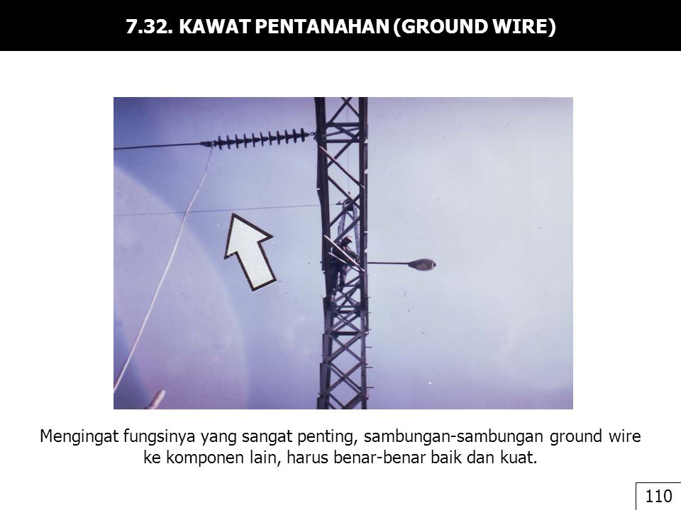 7.32. KAWAT PENTANAHAN (GROUND WIRE)