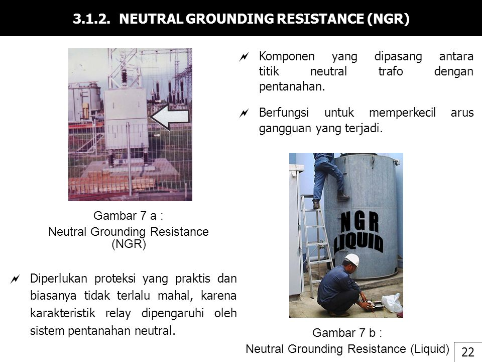 3.1.2. NEUTRAL GROUNDING RESISTANCE (NGR)
