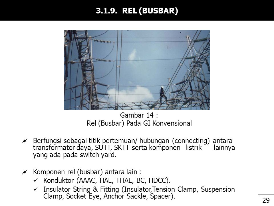 Rel (Busbar) Pada GI Konvensional