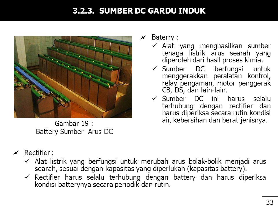 3.2.3. SUMBER DC GARDU INDUK Baterry :