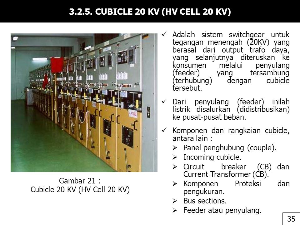 3.2.5. CUBICLE 20 KV (HV CELL 20 KV)