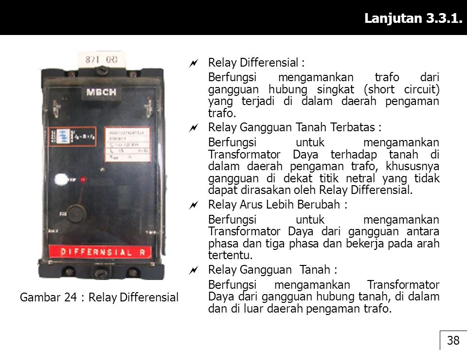 Gambar 24 : Relay Differensial