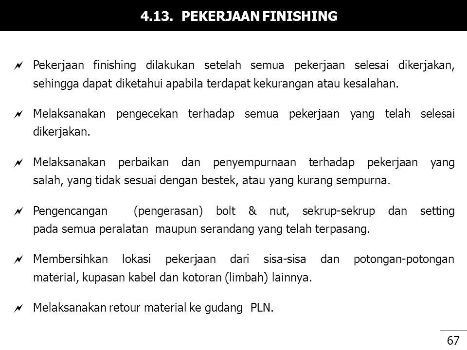 4.13. PEKERJAAN FINISHING