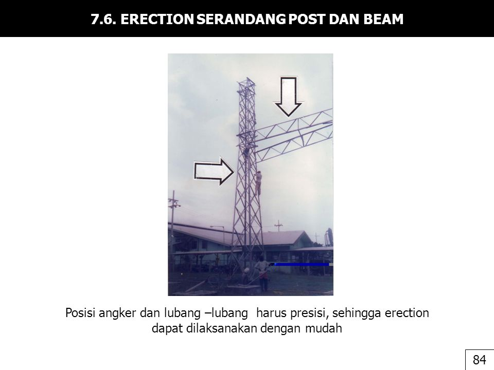 7.6. ERECTION SERANDANG POST DAN BEAM