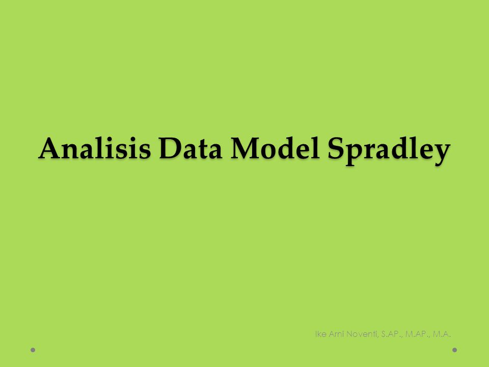 Analisis Data Model Spradley
