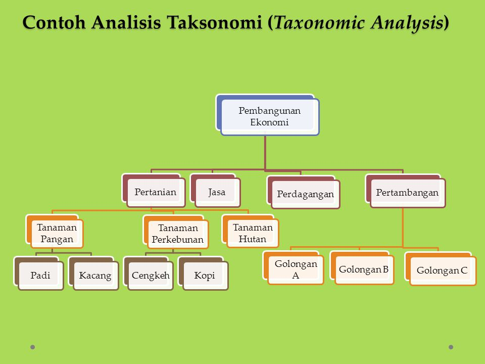 Contoh Analisis Taksonomi (Taxonomic Analysis)