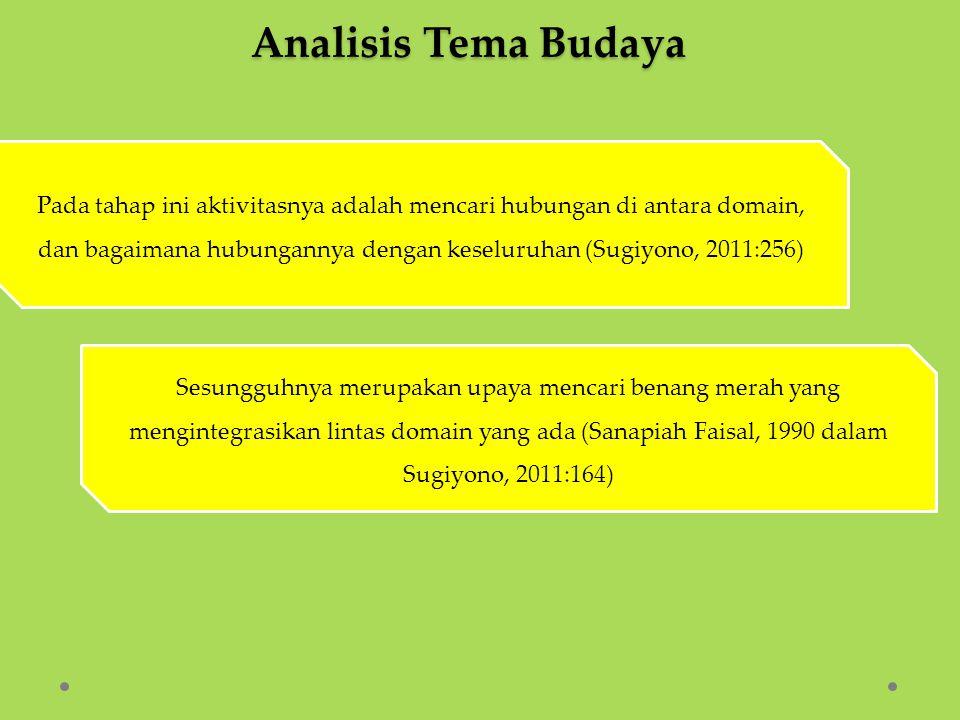 Analisis Tema Budaya