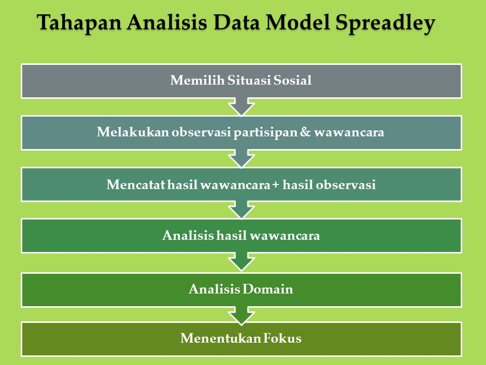 Tahapan Analisis Data Model Spreadley