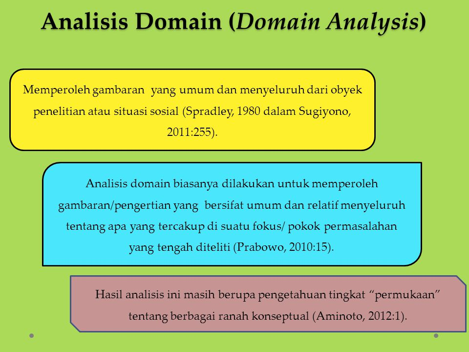 Analisis Domain (Domain Analysis)