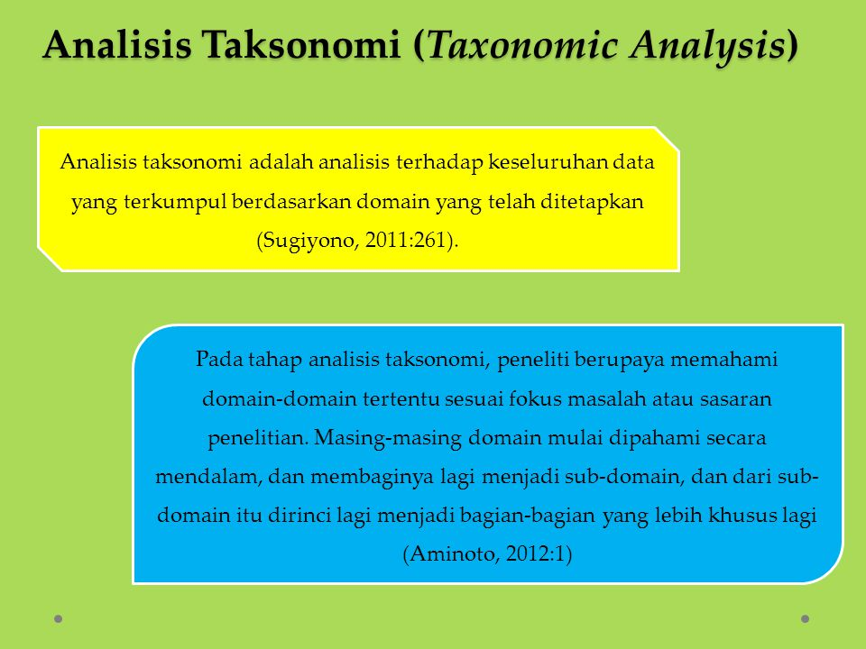 Analisis Taksonomi (Taxonomic Analysis)