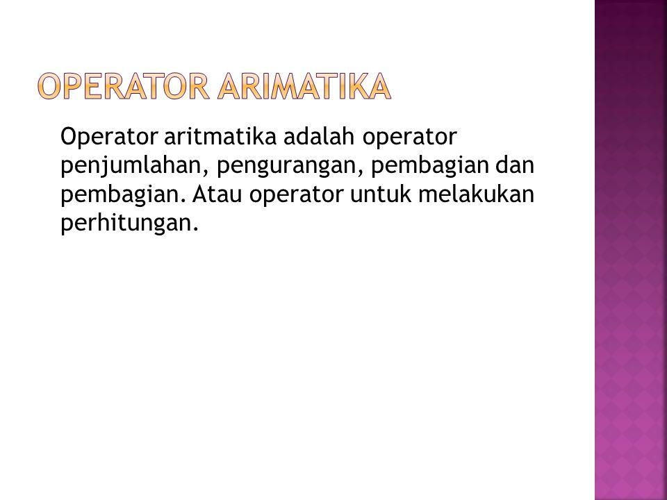 Operator Arimatika