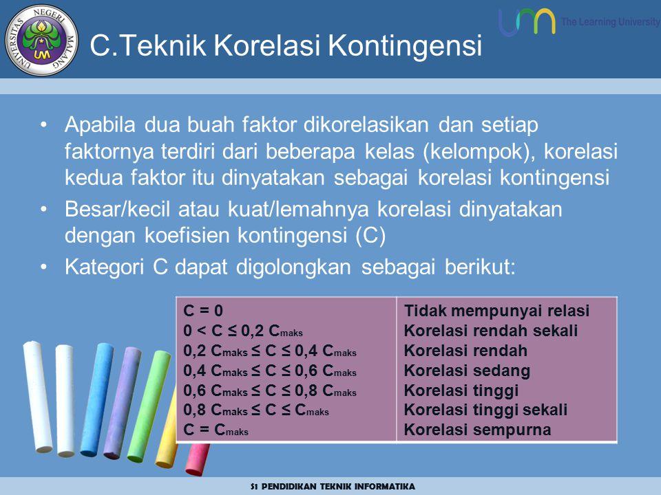 C.Teknik Korelasi Kontingensi