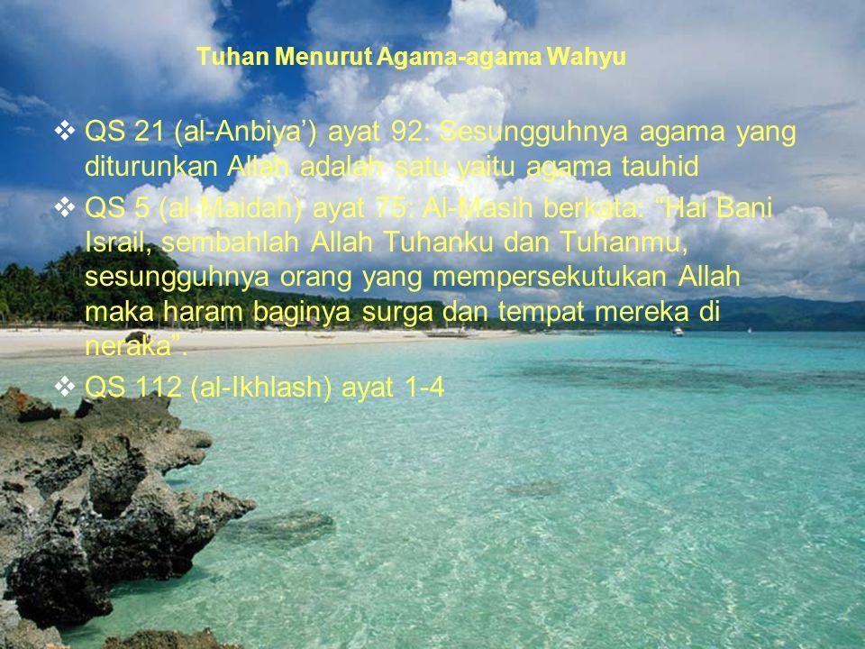 Tuhan Menurut Agama-agama Wahyu