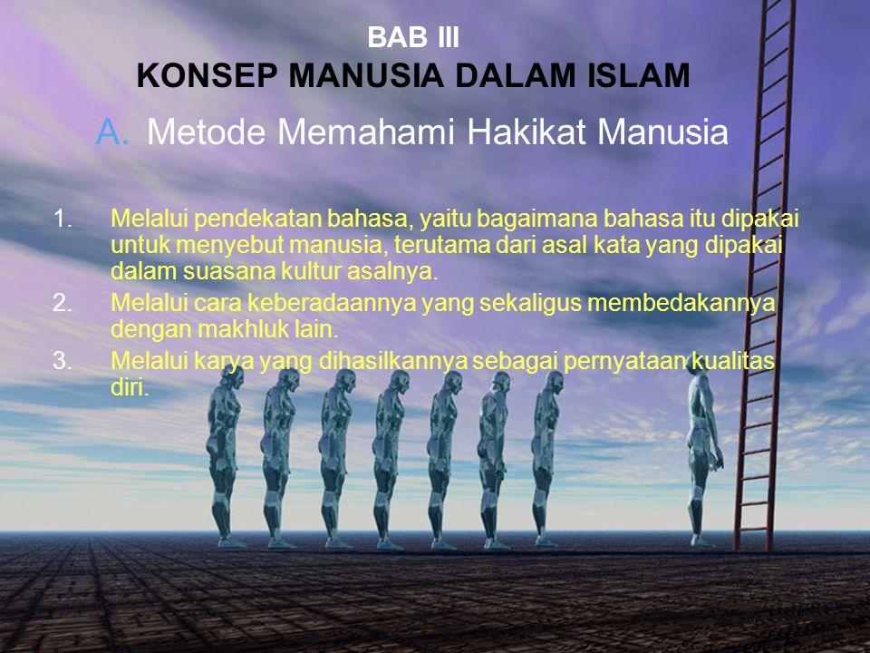 BAB III KONSEP MANUSIA DALAM ISLAM